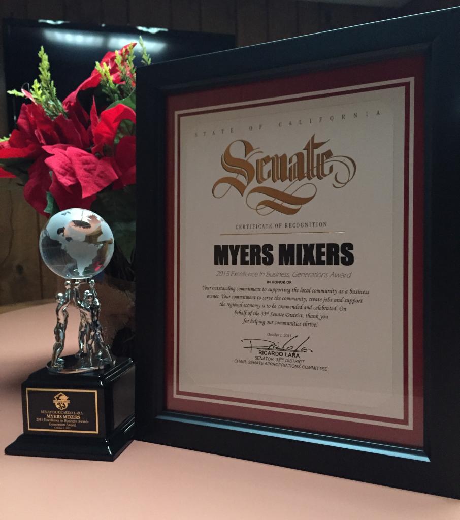 Myers Mixers Generations Award